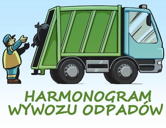 Harmonogram wywozu odpadów na rok 2016 r.